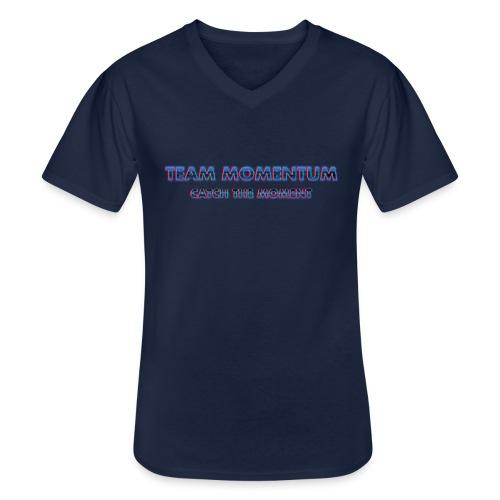 Team Momentum Retro style - Klassisk T-shirt med V-ringning herr