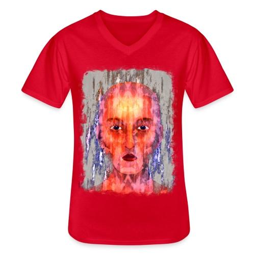 Mystic - Klassiek mannen T-shirt met V-hals