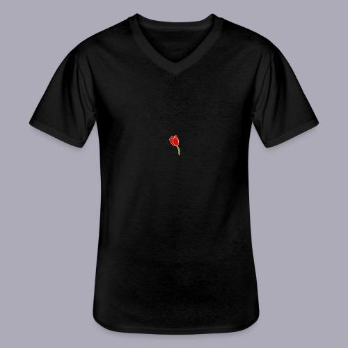 Tulip Logo Design - Men's V-Neck T-Shirt