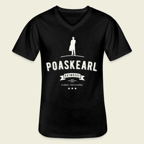 Poaskearl Oatmöske - Klassiek mannen T-shirt met V-hals