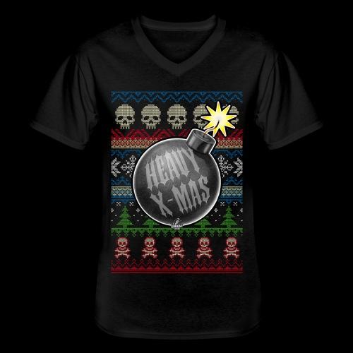Heavy X-Mas Christbaumkugel-Bombe - Klassisches Männer-T-Shirt mit V-Ausschnitt