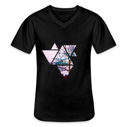 POLYGON TREE - Klassisches Männer-T-Shirt mit V-Ausschnitt