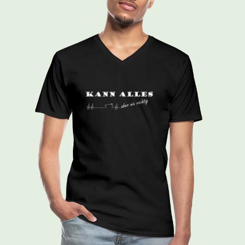 kannalles - Klassisches Männer-T-Shirt mit V-Ausschnitt