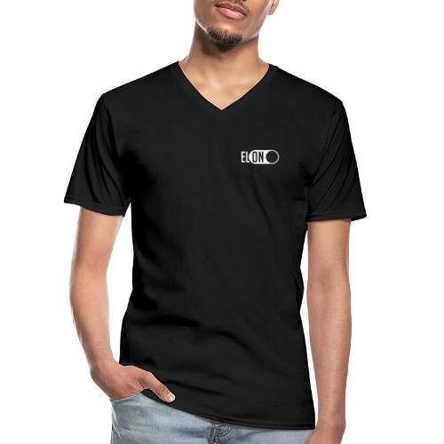 ELON – turn the electrics on - Klassisches Männer-T-Shirt mit V-Ausschnitt