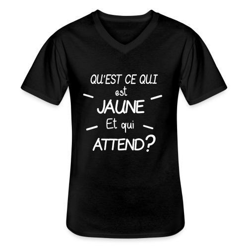 Edition Limitee Jonathan Black - T-shirt classique col V Homme