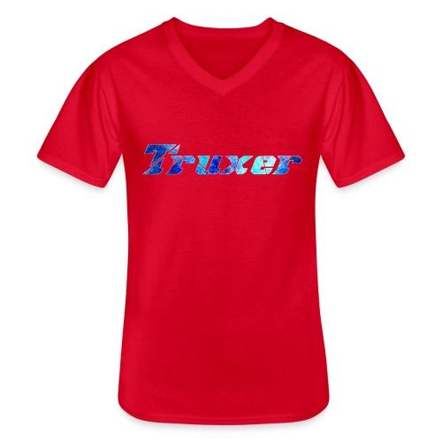 Truxer Name with Sick Blue - Men's V-Neck T-Shirt