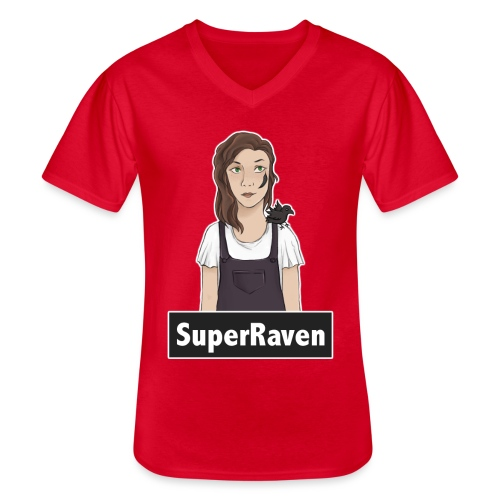 SuperRaven - Men's V-Neck T-Shirt