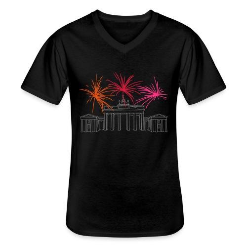 Brandenburger Tor Berlin - Klassisches Männer-T-Shirt mit V-Ausschnitt