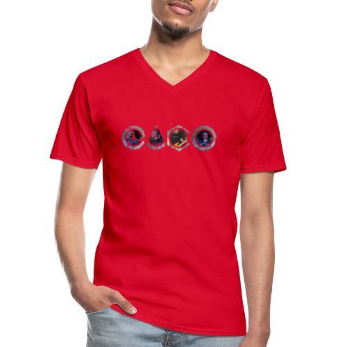 Mask NBG - Men's V-Neck T-Shirt