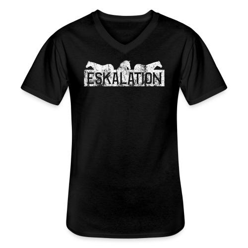 Eskalation - Klassisches Männer-T-Shirt mit V-Ausschnitt