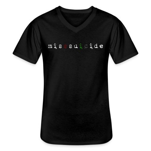 MissSuicide Logo - Klassisches Männer-T-Shirt mit V-Ausschnitt