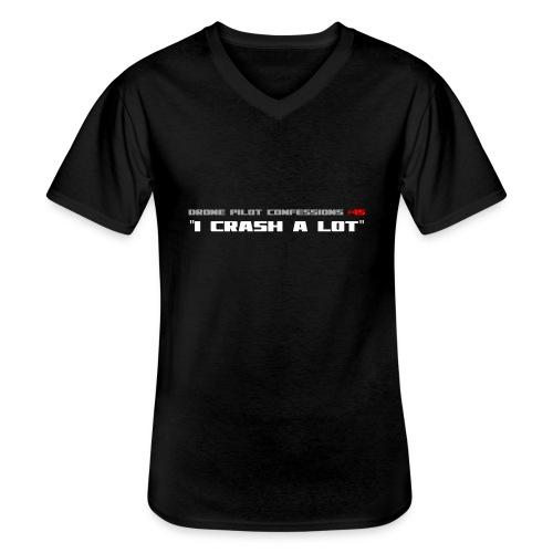 I CRASH A LOT - Men's V-Neck T-Shirt