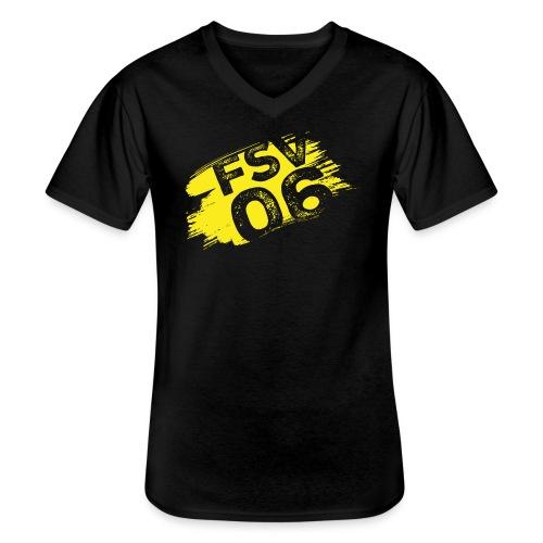 Hildburghausen FSV 06 Graffiti gelb - Klassisches Männer-T-Shirt mit V-Ausschnitt