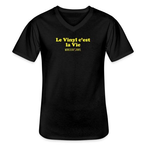Collection Le Vinyl c'est la Vie - T-shirt classique col V Homme