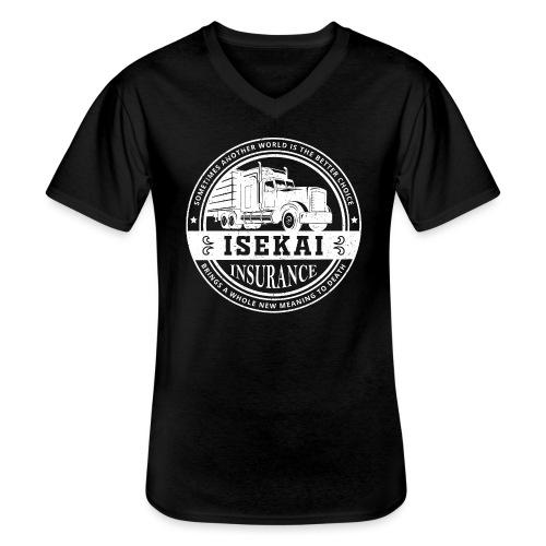 Funny Anime Shirt Isekai insurance Co. - White - Klassiek mannen T-shirt met V-hals