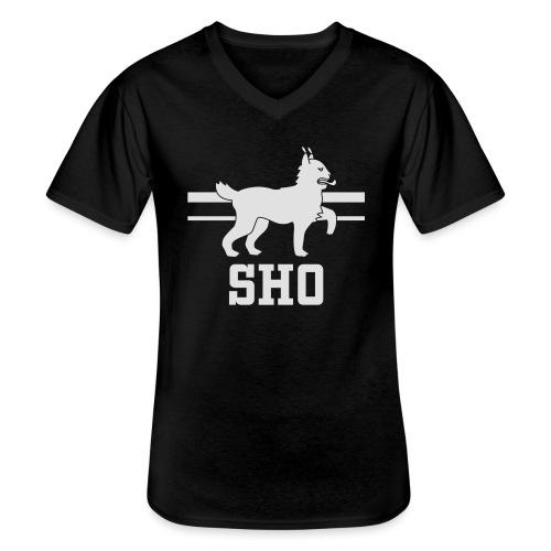 SHO Häme - Klassinen miesten t-paita v-pääntiellä