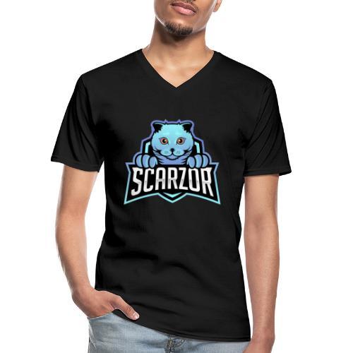 Scarzor Merchandise - Klassiek mannen T-shirt met V-hals