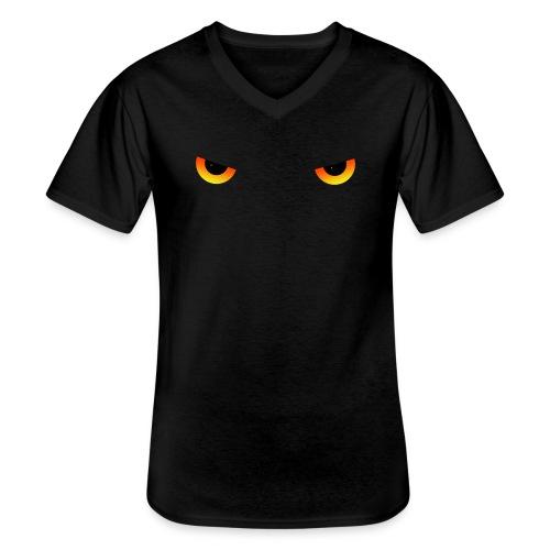 Augen feurig - Klassisches Männer-T-Shirt mit V-Ausschnitt