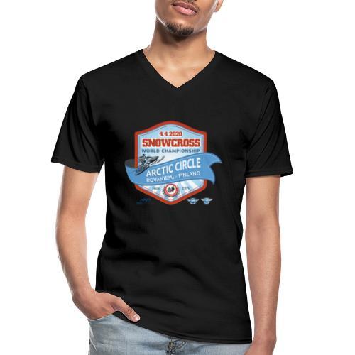 MM Snowcross 2020 virallinen fanituote - Klassinen miesten t-paita v-pääntiellä