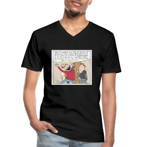 introvert - Klassisk T-shirt med V-ringning herr