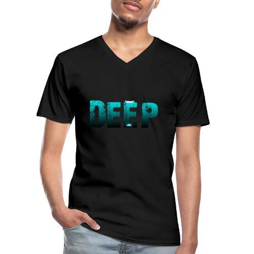 Deep In the Night - Maglietta da uomo classica con scollo a V
