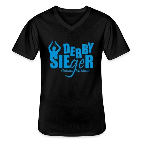 Derbysieger-Gelsenkirchen - Klassisches Männer-T-Shirt mit V-Ausschnitt