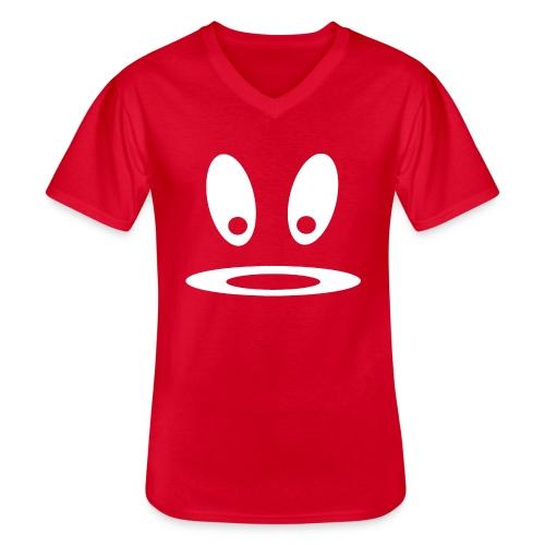 Glotzi w - Klassisches Männer-T-Shirt mit V-Ausschnitt