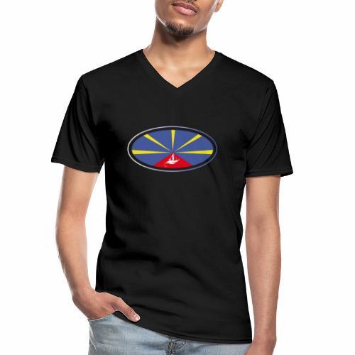 Paddle Reunion Flag - T-shirt classique col V Homme