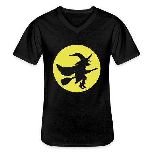 hexe_1farbig - Klassisches Männer-T-Shirt mit V-Ausschnitt