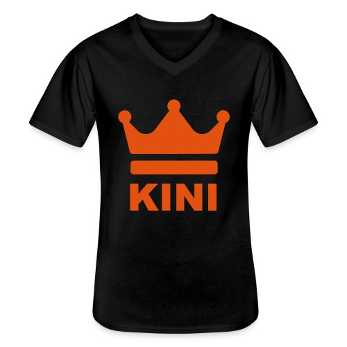 KINI ist König - Klassisches Männer-T-Shirt mit V-Ausschnitt