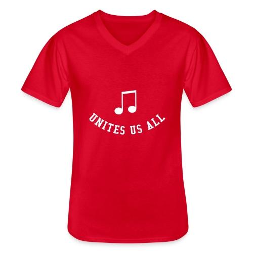 Music Unites Us All Shirt - Men's V-Neck T-Shirt