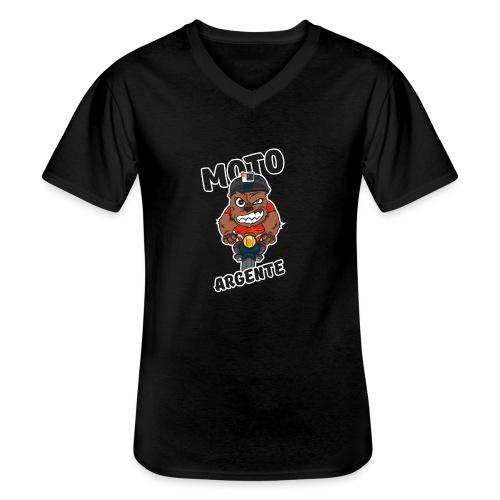 moto argente - T-shirt classique col V Homme