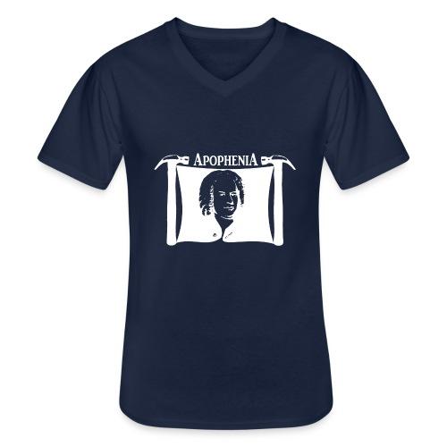 Apophenia White Logo - Klassiek mannen T-shirt met V-hals