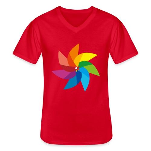 bunte Windmühle Kinderspielzeug Regenbogen Sommer - Men's V-Neck T-Shirt
