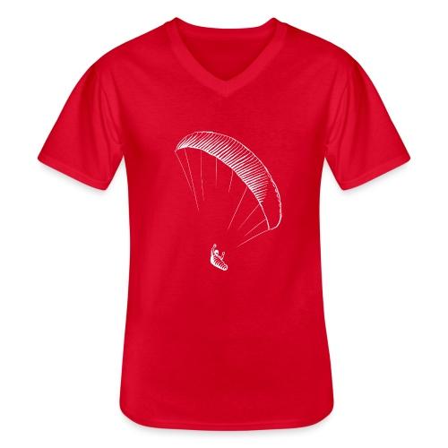 paraglider gerlitzen weiss - Klassisches Männer-T-Shirt mit V-Ausschnitt