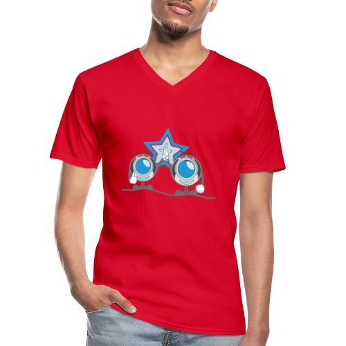 high5 clopter - Klassisches Männer-T-Shirt mit V-Ausschnitt