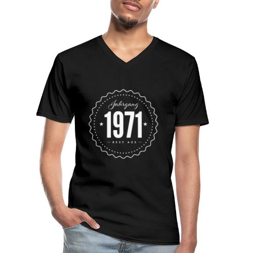 Jahrgang 1971 Best Age - Klassisches Männer-T-Shirt mit V-Ausschnitt