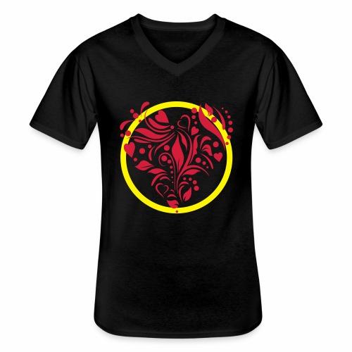 Herzemblem - Klassisches Männer-T-Shirt mit V-Ausschnitt