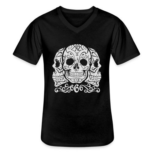 Skull Dia de los muertos - T-shirt classique col V Homme