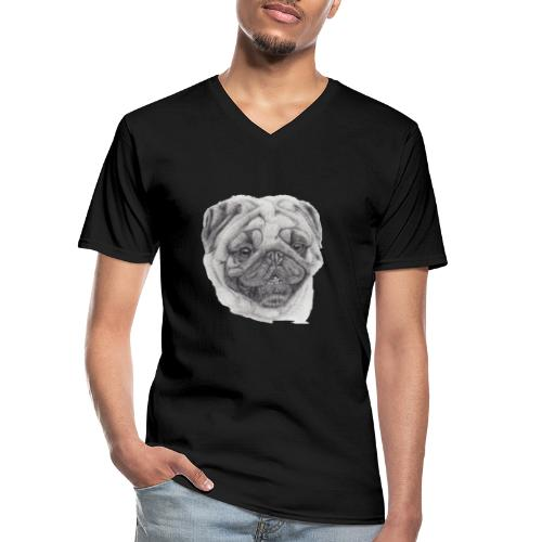 Pug mops 2 - Klassisk herre T-shirt med V-udskæring