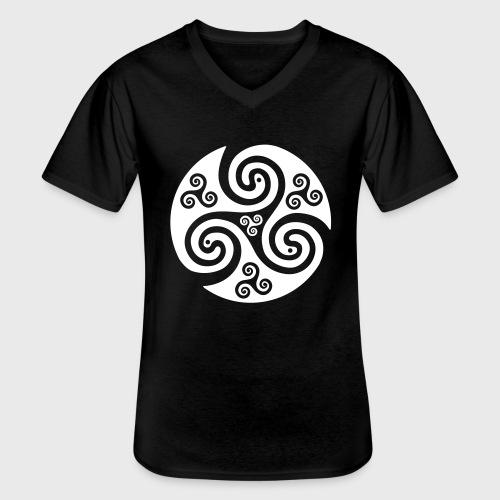 Triskel celtique - T-shirt classique col V Homme