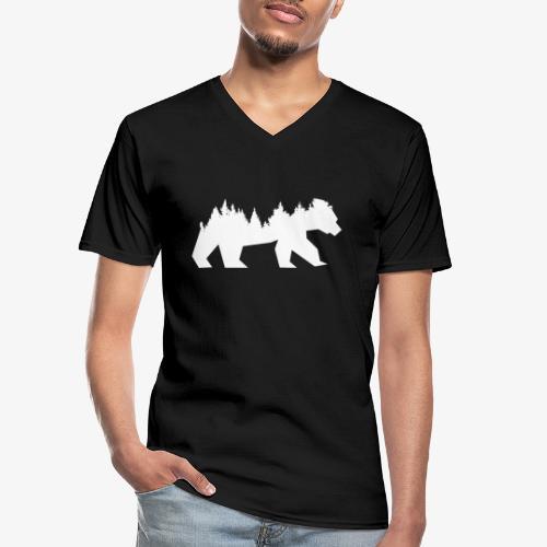 Bear Wald - Klassisches Männer-T-Shirt mit V-Ausschnitt