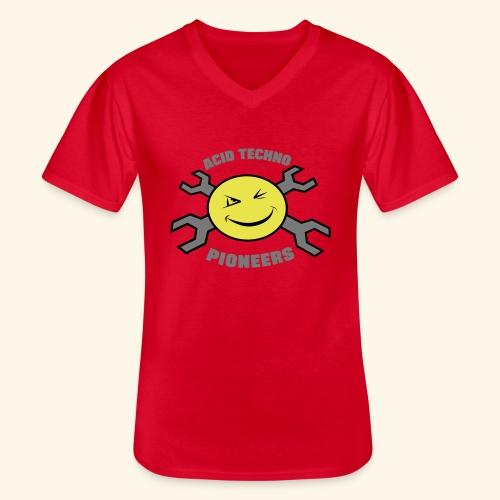ACID TECHNO PIONEERS - SILVER EDITION - Men's V-Neck T-Shirt