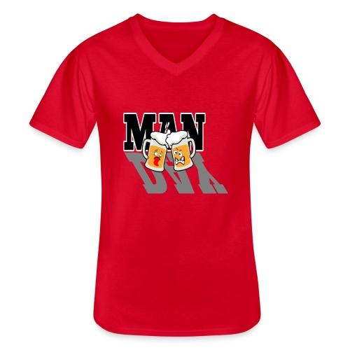 Männertag - Klassisches Männer-T-Shirt mit V-Ausschnitt
