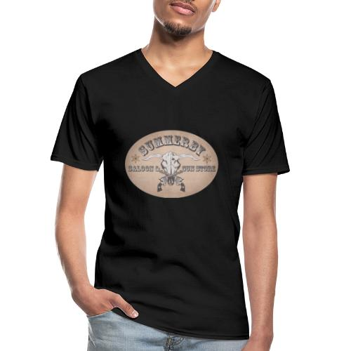 Summerby Saloon - Klassisches Männer-T-Shirt mit V-Ausschnitt