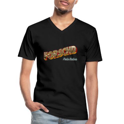 Forschd - Perle Badens - Vintage-Logo mit Luftbild - Klassisches Männer-T-Shirt mit V-Ausschnitt