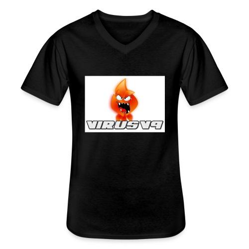 Virusv9 Weiss - Klassisches Männer-T-Shirt mit V-Ausschnitt