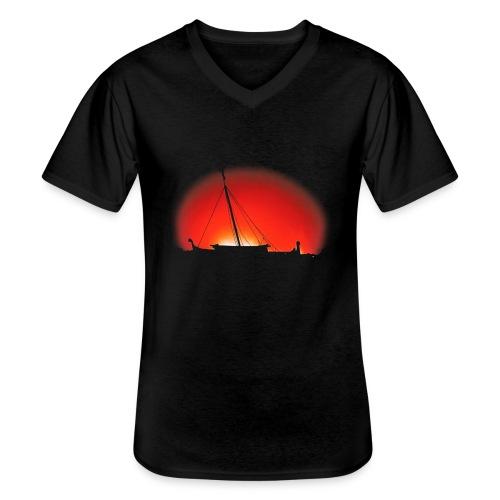 Bear Sunset - Men's V-Neck T-Shirt