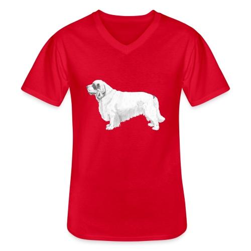 clumber spaniel - Klassisk herre T-shirt med V-udskæring