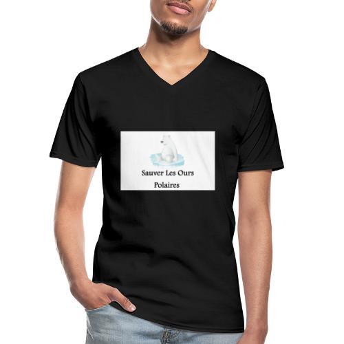 Sauver Les Ours Polaires - T-shirt classique col V Homme